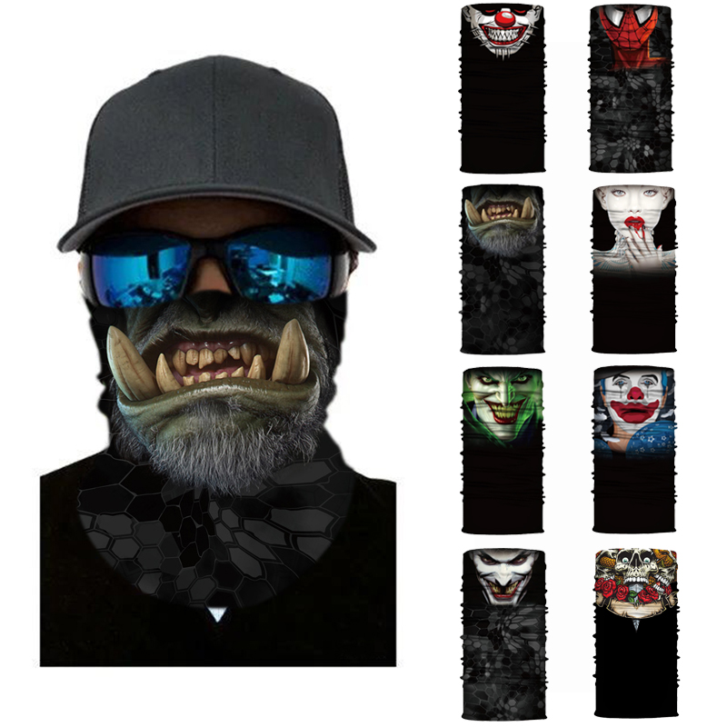 Cycling Motorcycle Head Scarf Neck Warmer Skull Face Mask Ski Balaclava Headband Mask halloween Face Shield bandana Outdoor Ride herobikermotorcycle face mask balaclava motorcycle neck warmer motorcycle ski caps bicycle scarf moto mask mascara moto