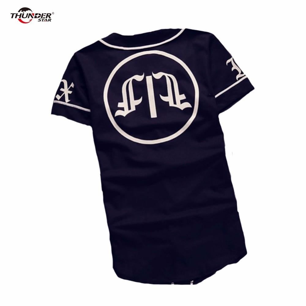 Été Mens Vintage T shirts 2018 Streetwear Hip Hop baseball jersey - Vêtements pour hommes - Photo 2