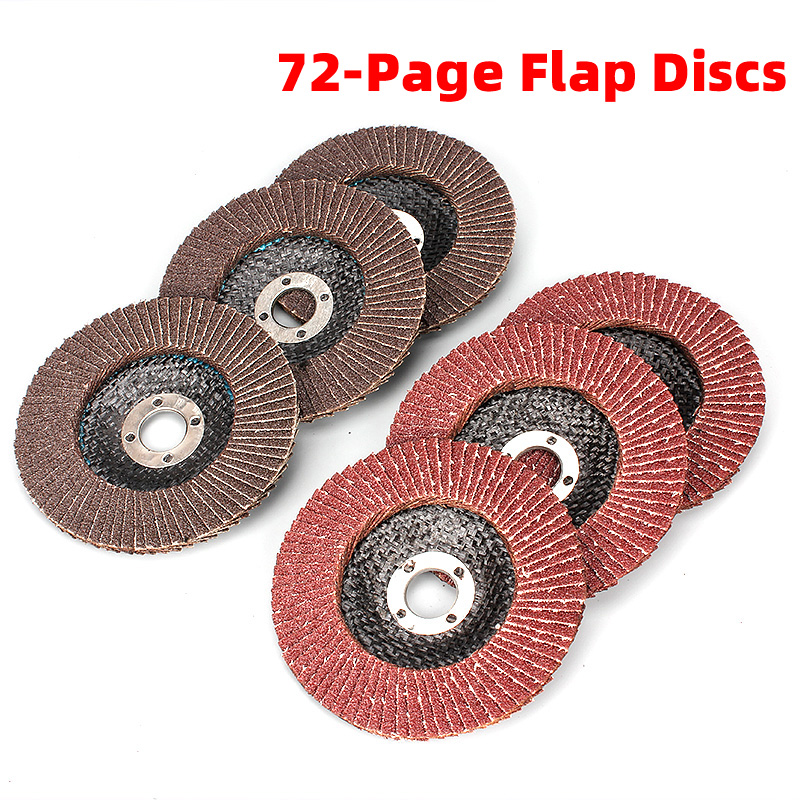 1Pcs 100MM 72-Page Flap Discs Sanding Grinding Wheels Angle Wheel Polishing Professional Blades For Grinder