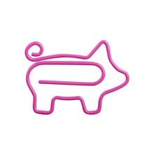 10PCS Cute Animal Pink Pig Bookmark Paper Clip School Office supplies Metal Material Gift Stationery planner Metal Ring binder
