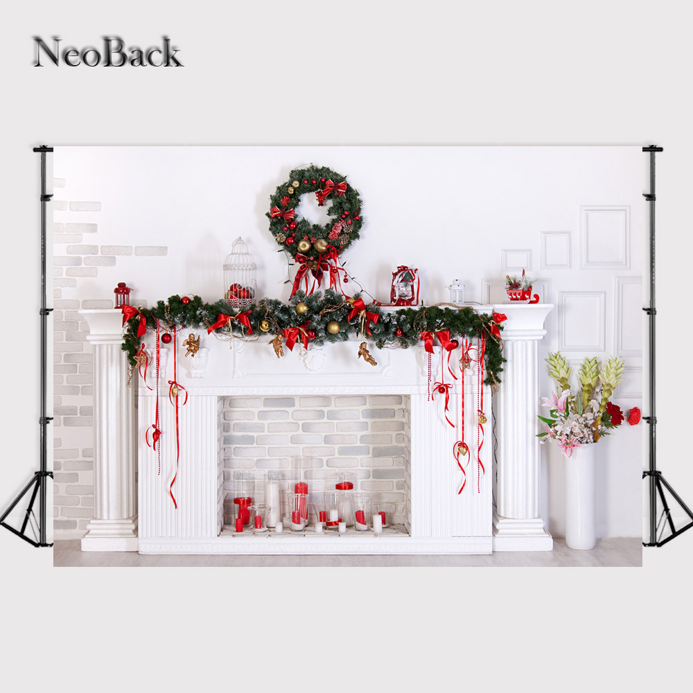 NeoBack 7X5ft Thin Wide Backdrop photography backgrounds vintage Christmas Decoration Family Party Studio Photo Backdrops P0708