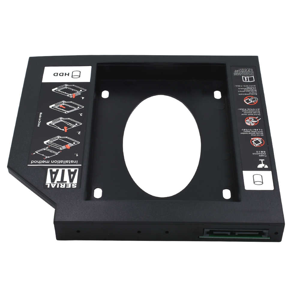 "TISHRIC Universal SATA 3,0 2nd HDD Caddy 12,7mm Optibay für 2,5 ""2 TB SSD HD Festplatte Fall gehäuse für Notebook CD DVD ROM"