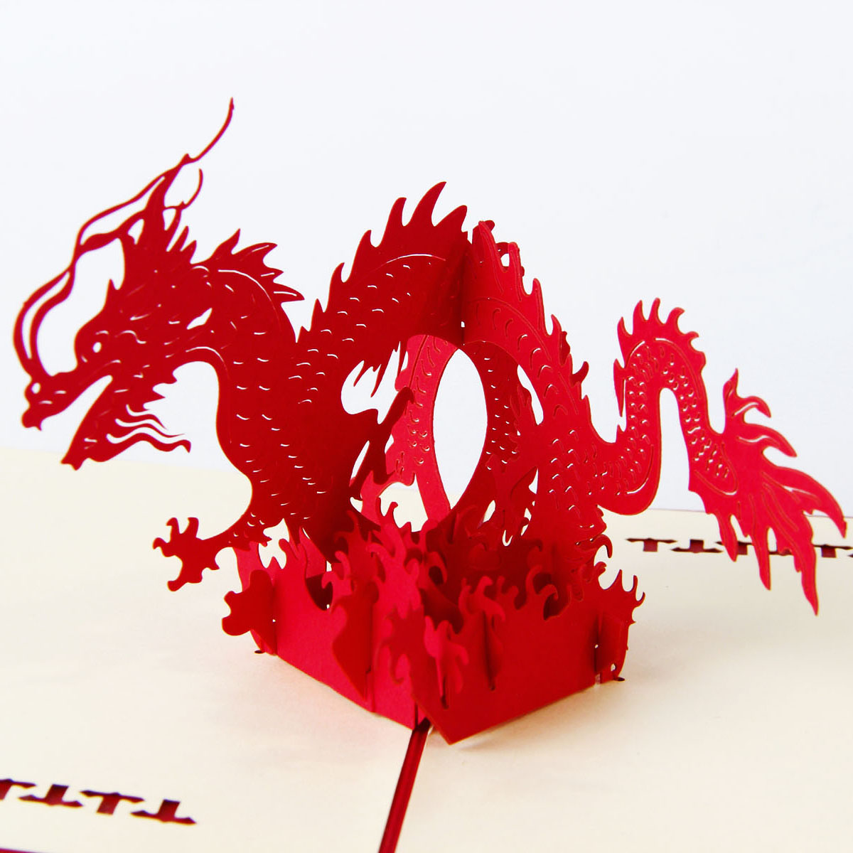 Animal Theme Dragon Handmade 3D Pop UP Greeting Cards For Birthday Greeting & Gift Greeting Cards Free Shipping 30pcs in one postcard take a walk on the go dubai arab emirates christmas postcards greeting birthday message cards 10 2x14 2cm