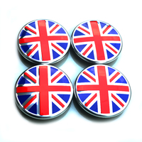 Red Blue UK Union Jack Flag Badge Logo Car Styling Refitting Wheel Hub Center Cap Cover