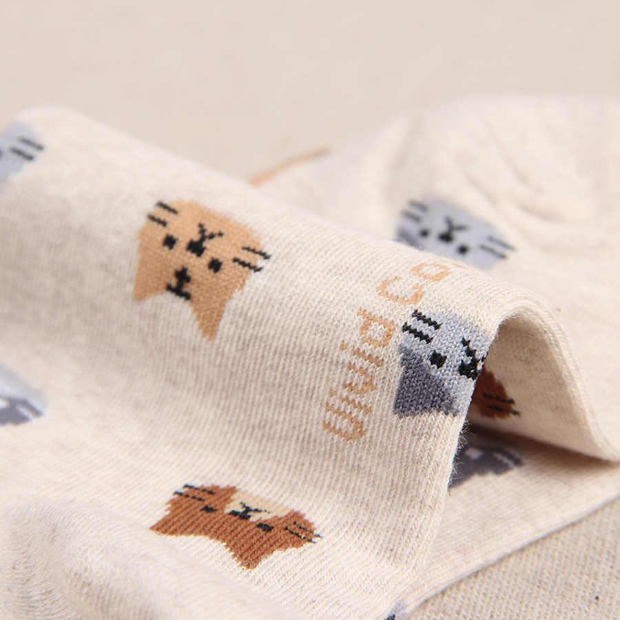 Jeseca 2019 Donne di Autunno Calzini e Calzettoni Animale Del Fumetto Cute Cat Calzino per le Ragazze di Inverno Caldo di Spessore Cotone Calzino per le Signore Di Natale regali