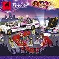Супер-большой 695 шт. строительные блоки установленные совместимо с lego друзья серии поп звезда лимузин модель Brinquedos кирпичи игрушки для девочек