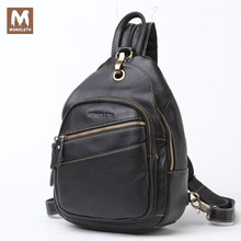 MONOLETH 2017 High Quality Vintage Genuine Leather Backpack Men Mental Bag Women Casual shoulder Backpacks Small Bags