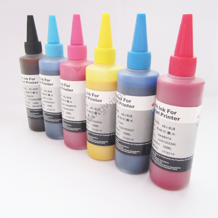 ФОТО Japan Model 6 Color Set Sublimation Ink For Epson EP-905F EP-775AW EP-805AW EP-706A EP-776A