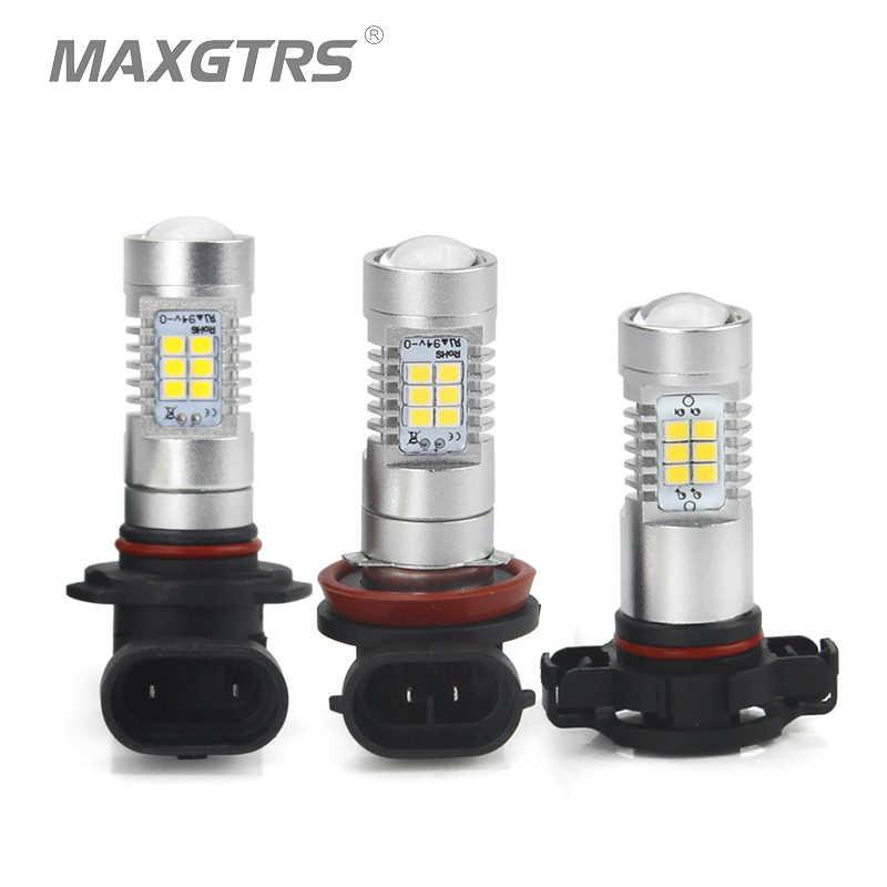 2x High Power H11 H8 H10 HB3 9005 HB4 9006 H16 Car LED Bulb 2835 LED Daytime Running Light Fog DRL Driving Lamp Warm White