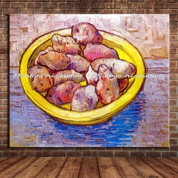 Potatoes In A Yellow Dish Of Vincent Van Gogh Hand Made Reproduction Oil Painting On Canvas Wall Art For Home Decoration HY41490
