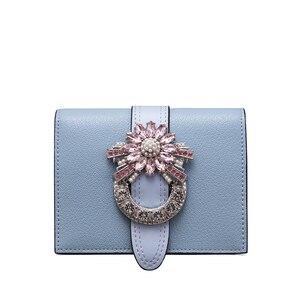 Image 3 - Marca LAFESTIN, Cartera de lujo de diseñador con diamantes, monedero corto, titular de la tarjeta femenina, monederos, billeteras, cartera femenina