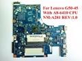 Alta quanlity laptop motherboard para lenovo g50-45 com a8-6410 cpu nm-a281 rev: 1.0 ddr3