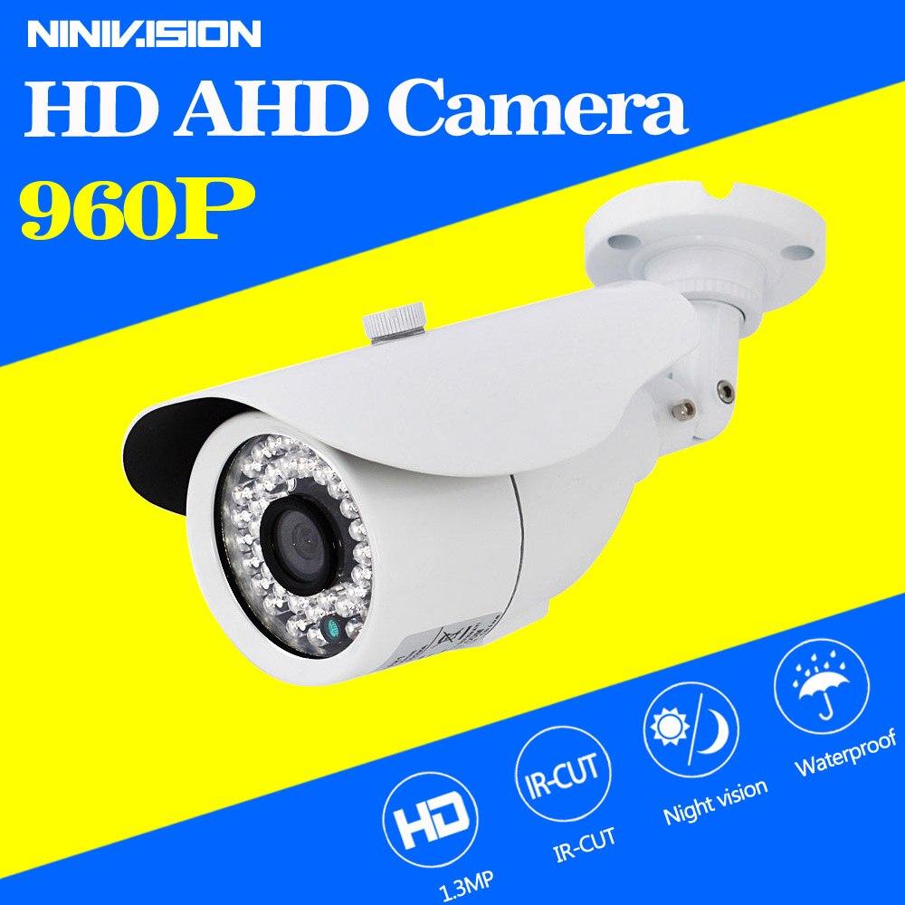 imágenes para Waterpfoof Cámara CCTV AHD 960 P HD Al Aire Libre Cámara de Vigilancia de Visión Nocturna de Vídeo blanco y material Metálico cámara Envío Gratis