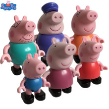 Peppa Pig action Figure Toy George Daddy Mummy Granny Grandpa pig Susy Sheep Rebecca Rabbit Danny Dog Candy Cat Madame Gazelle(China)