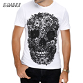 E-BAIHUI марка мужчины с коротким футболки Череп 3d t рубашка мужчин хип-Хоп Мужчины Футболка Повседневная топы тис марсело burlon Swag футболки Y049