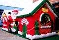 Открытый Надувные Новогодние Украшения Индивидуальные Рождественских Дом Семьи Дворе Украшения Искусства С Заводской Цене