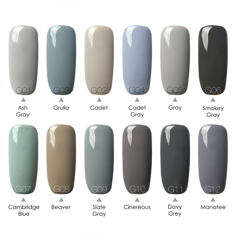 Focallure Led Uv Nail Gel Polish Nice Grey Series Light Color Dark Coat Art In From Beauty Health On