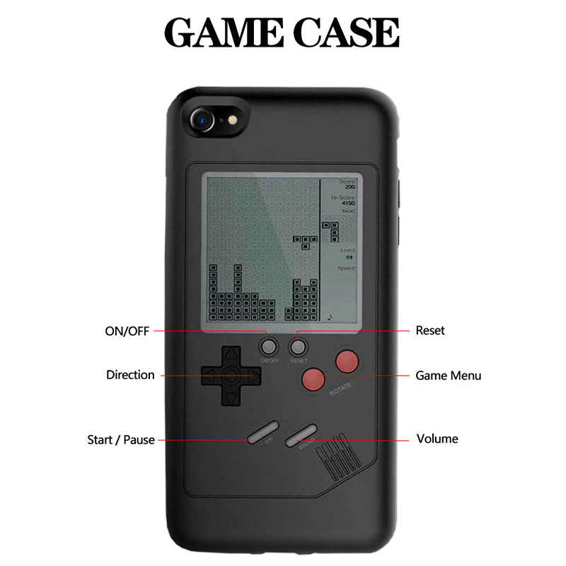 pretty nice 7af79 7b1ab Unique Multi Phone Cases For iPhone X 8 7 6 Plus TPU PC Case Tetris Game  Console Appearance Protection Back Cover Gift For Child