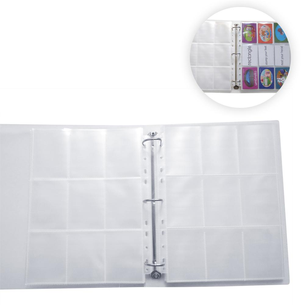PP Game Card Book 9 Compartment Album Collection Transparent Card Holder Collection Card HD Transparent Neutral Binder Scrapbook