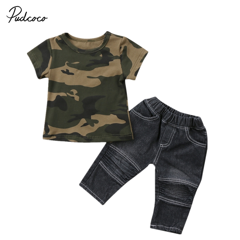 Baby Boy T-Shirt Tops Short Sleeve Long Pants Cotton Cute Outfits Clothing Set Newborn Baby Boys Clothes Sets