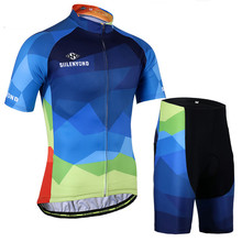 Summer Cycling Jersey Set Quick-Dry Breathable Bicycle Cycling Clothing Mountain Bike Wear Sportswear Suit Ropa Ciclismo Hombre недорого