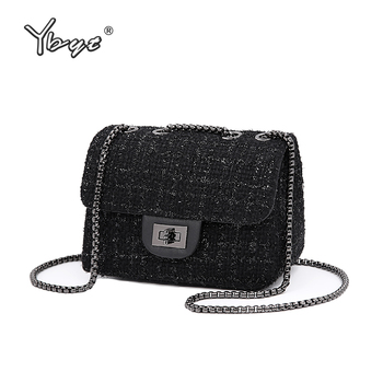YBYT brand 2018 new fashion joker wool women's flap hotsale ladies winter evening bags small shoulder messenger crossbody bags