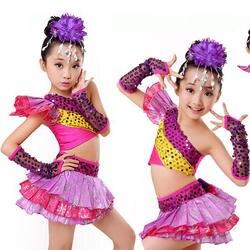 Блестками Обувь для девочек коснитесь джаз танцевальные костюмы дети Костюмы для бальных танцев партии Показать катанию dancetops + платье