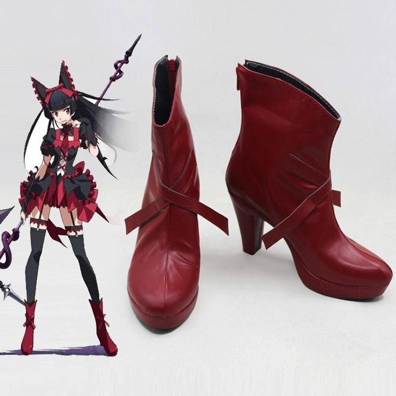 Gate Jieitai Kanochi nite Kaku Tatakaeri Rory Mercury Cosplay Costume Shoes Boots New Custom Made