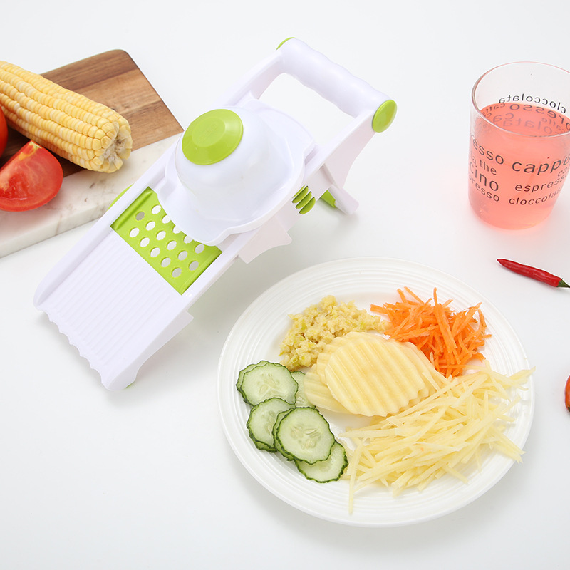 Stainless Stee Qiecai 5 Sets Shredder Slicers Into Strips Device Grater Cut Potatoes Carrot Cucumber Wire K0032