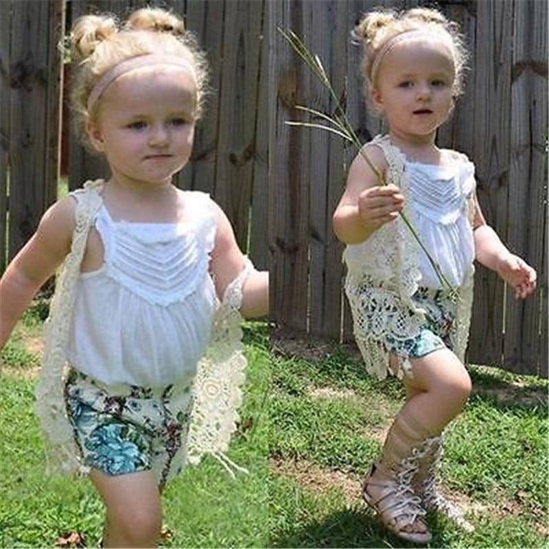 Niños pequeños Bebés Niñas Crochet Lace Hollow Cardigan Tops - Ropa de ninos - foto 4
