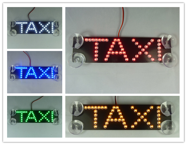 NEW high quality Third generation TAXI led car light suction cup Single row letter lights 17.4*4.5CM