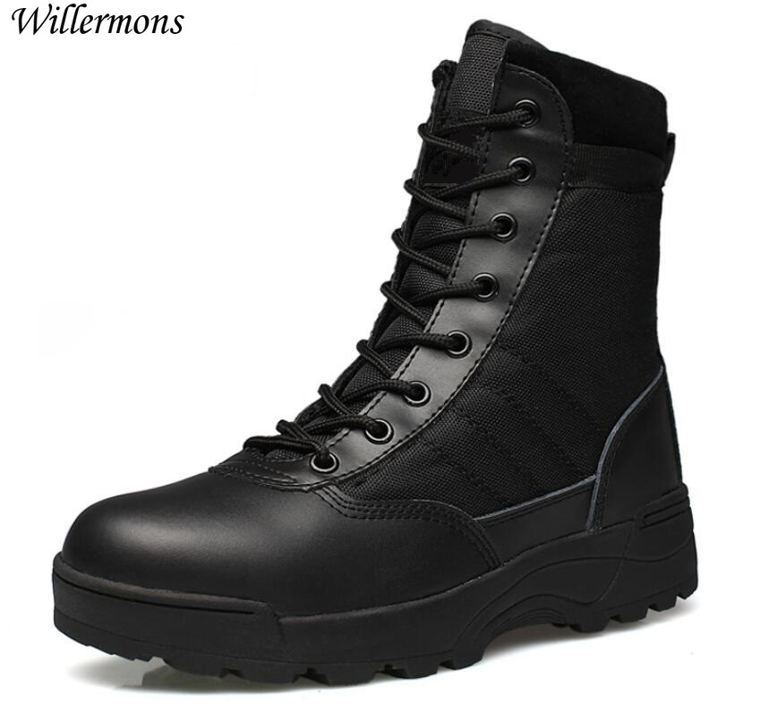 Outdoor Army Boots Mænds Militære Ørken Tactical Boot Sko Vinter Breathable Combat Ankel Boots Botas Tacticos Zapatos