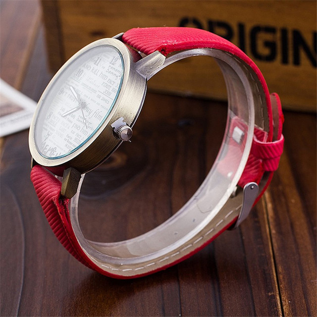 Dropshipping Fashion Jeans Watch Women Cute Newspaper Wristwatches Fashion Casual Luxury Quartz Watches Relogio Feminino