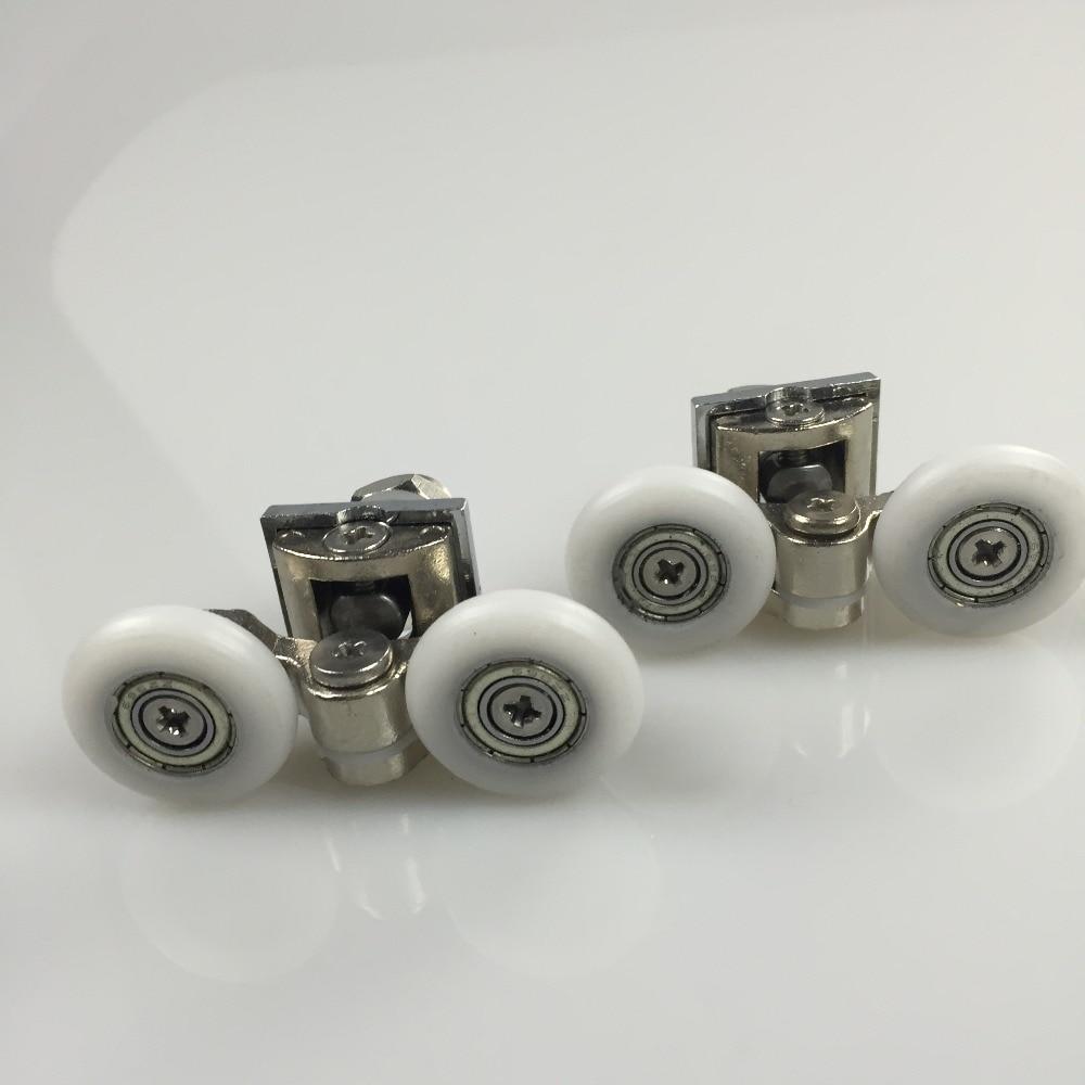 8 Pcs de alta qualidade com rodas polia de metal de vidro pullery