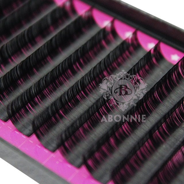 Abonnie All Size B/C/D/J curl 1 trays ,Individual natural Mink Eyelash Extension. Artificial Fake False Eyelashes 2