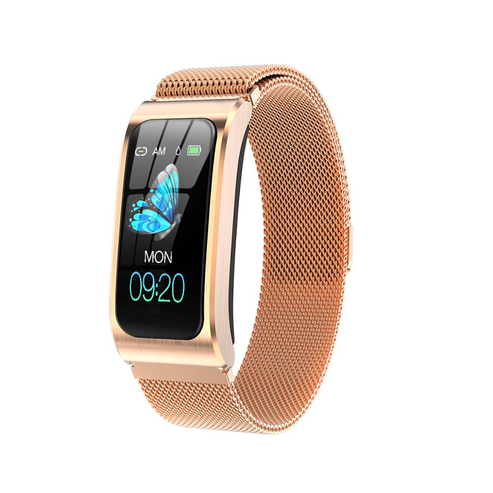 "AK12 women smart watch 1.14"" IP68 waterproof heart rate stopwatch alarm clock fitness tracker swim watches PK X3 S2 Android IOS Smart Watches     - title="