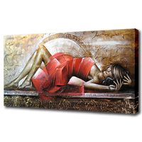 Modern picture hot sex woman oil painting for bedroom canvas art for friends gift high quality reproduction
