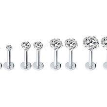 20 штук 16 г ювелирные изделия для тела Пирсинг-CZ блестящая губная серьга, кольцо Спиральные серьги Бар Пирсинг губ 16 г Подобрать Размеры