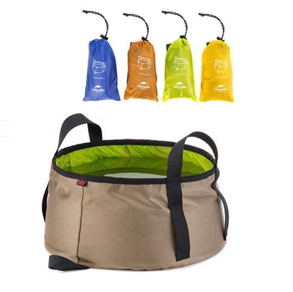 Ultra-light Foldable Pot Tub Folding Basin Anti-Tear EDC Travel Kit Camping Survival Equipment Outdoor Sport Beach Washbasin