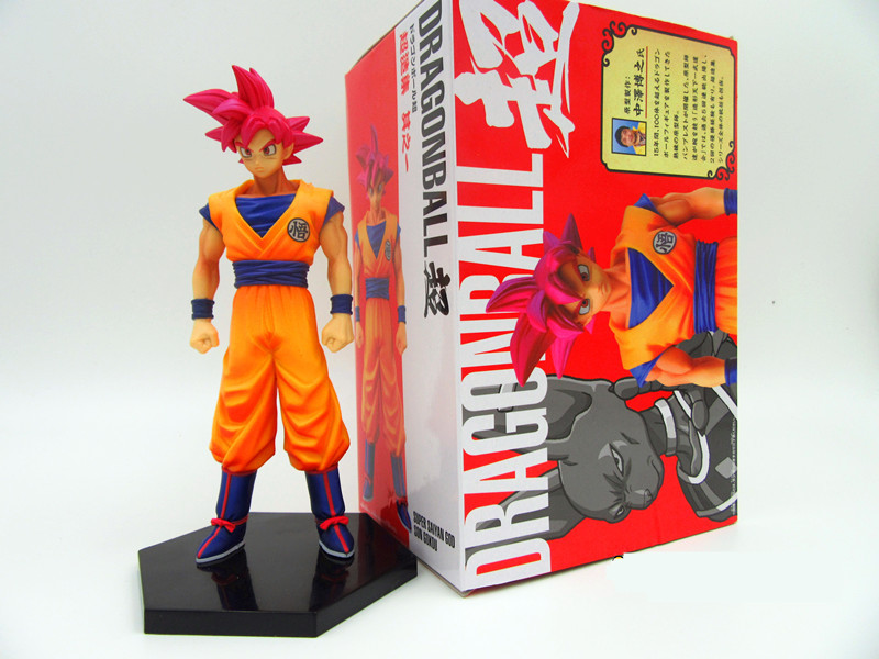 Classic Comic Anime Akira Toriyama Dragon Ball Z Battle of the Gods Red Hair Son Goku 6.5 Action Figure