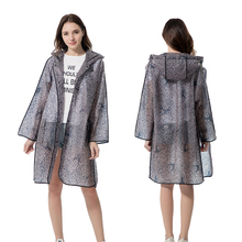 New arrival fashion lace waterproof plastic EVA women hooded long trench Rain Coats adult outdoor rainwear Suit