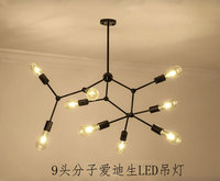 Retro industrial pendurado aranha lâmpada iluminação moderna  ajustável loft luz para sala de estar loja