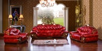 Luxury Big European Leather Sofa Set Living Room Furniture Made In China Sectional Sofa Wooden Frame
