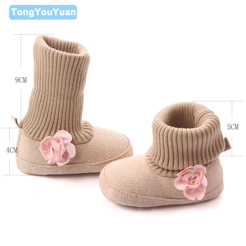 New Arrival Flower Inlay Special Design Baby Shoes Toddler Prewalker