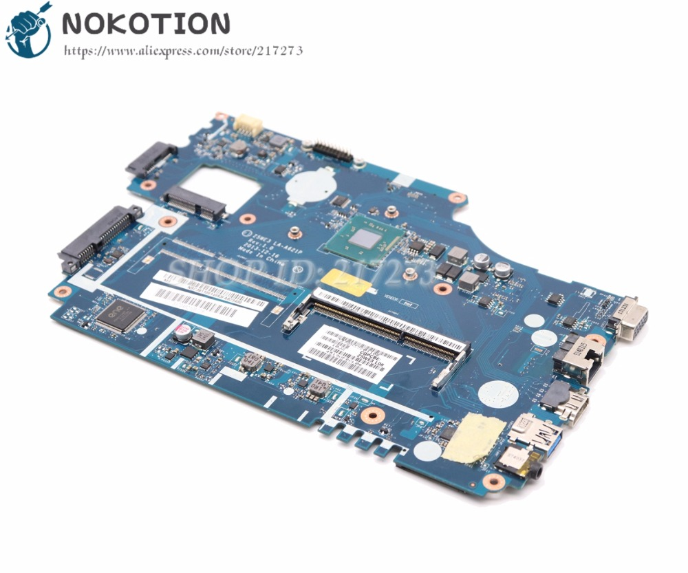NOKOTION For Acer aspire E1-510 E1-510-2500 Laptop Motherboard Z5WE3 LA-A621P NBC3A11001 DDR3L with Processor onboard цены