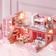 DIY Doll House Furniture Dream Angel Miniature Dollhouse Toys for Children Cute Families House Casinha De Boneca Lol House(China)