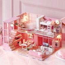 DIY Кукольный дом мебель мечта Ангел миниатюрный кукольный домик игрушки для детей Sylvanian Families дом Casinha De Boneca Lol дом