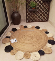 American Creative Round Style Natural jute carpet round carpet Hand made rattan grass rugs and carpets for home living room