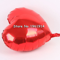 Free Shipping 50 Pcs Lot 18 Inch Wholesales Party Decoration Helium Inflable Heart Shaped Wedding Aluminum