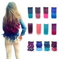Free Shipping Heat-Resistant Fiber Synthetic Wavy Hair Pink Color Clip In On Hair Extension Hairpiece